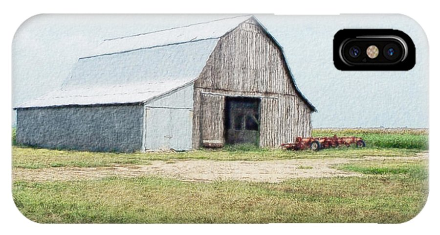 Arcitecture IPhone X Case featuring the digital art Summer Barn by Debbie Portwood