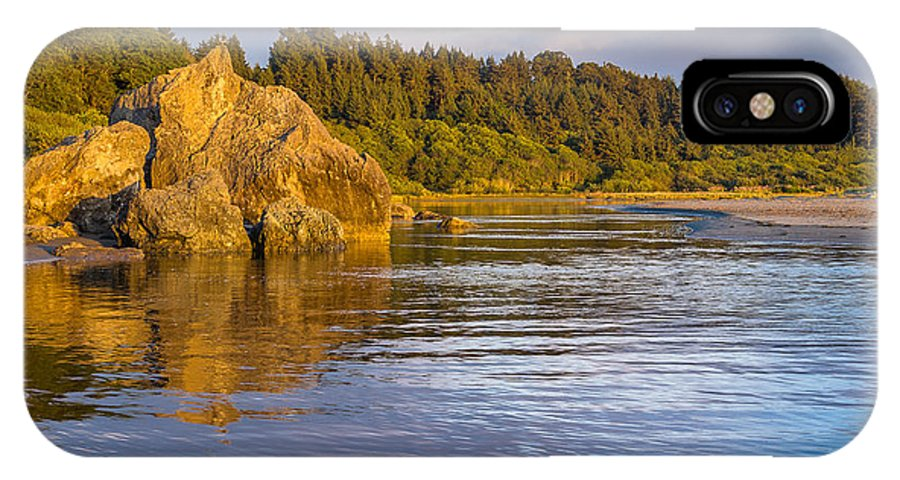 Landscape IPhone X Case featuring the photograph Summer Evening On Little River by Greg Nyquist