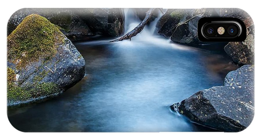 Waterfall IPhone X Case featuring the photograph Summer Ice by Mitch Johanson