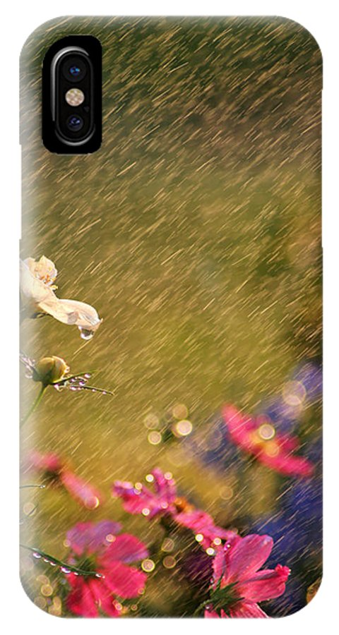 Beautiful IPhone X Case featuring the photograph Summer Rain by Darren Fisher