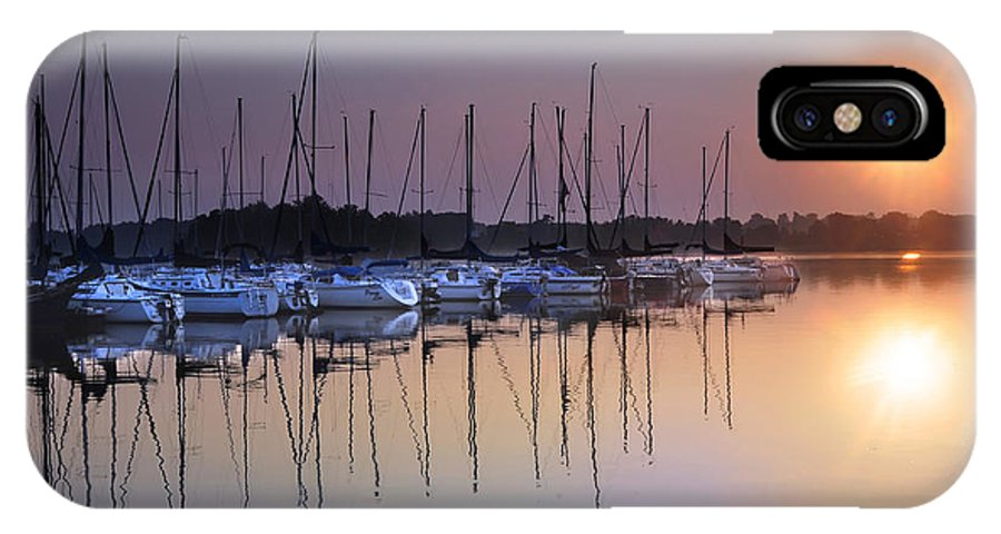 Summertime Sailing IPhone X Case featuring the photograph Summertime Sailing by Randall Branham