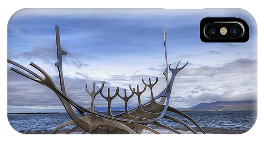Viking IPhone X Case featuring the photograph Sun Voyager by Evelina Kremsdorf
