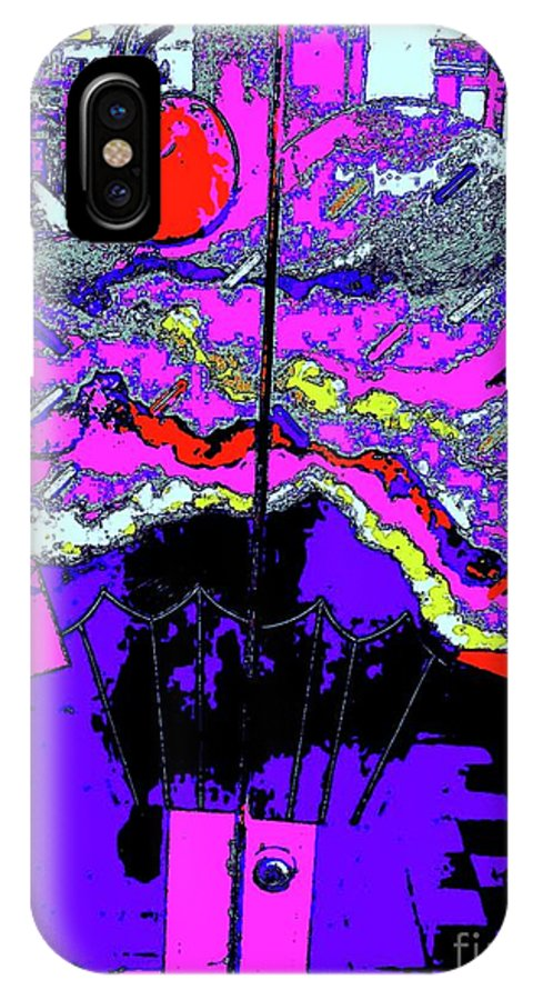 Digital Art IPhone X Case featuring the digital art Sundae 20 by Nina Kaye