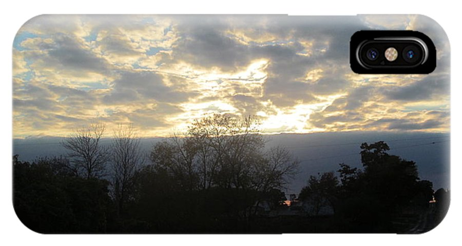 Suns IPhone X Case featuring the photograph Sunday Autumn Sunset One by Tina M Wenger