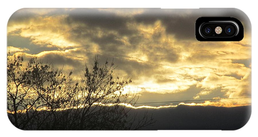 Sun IPhone X Case featuring the photograph Sunday Autumn Sunset Two by Tina M Wenger