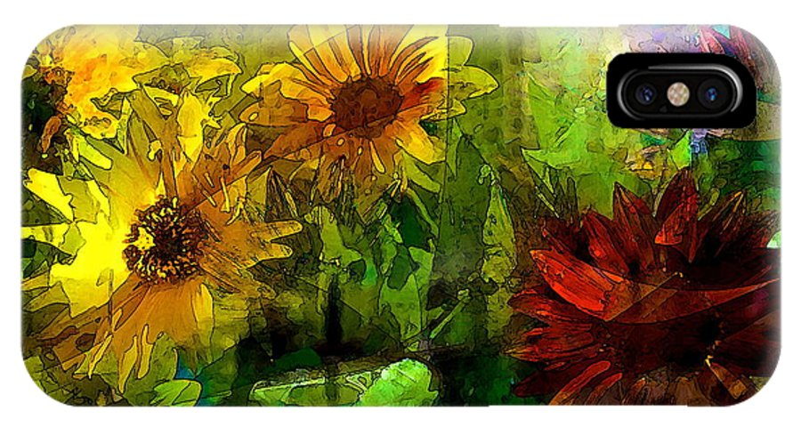 Floral IPhone X Case featuring the photograph Sunflower 4 by Pamela Cooper