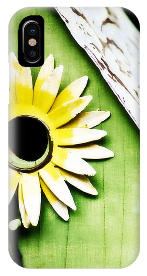 Birdhouse IPhone X Case featuring the photograph Sunflower Birdhouse by Jarrod Erbe