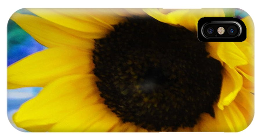 Sunflower IPhone X Case featuring the photograph Sunflower Too by Shannon Grissom