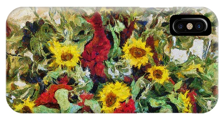 Sunflowers IPhone X Case featuring the photograph Sunflowers by Richard Lee