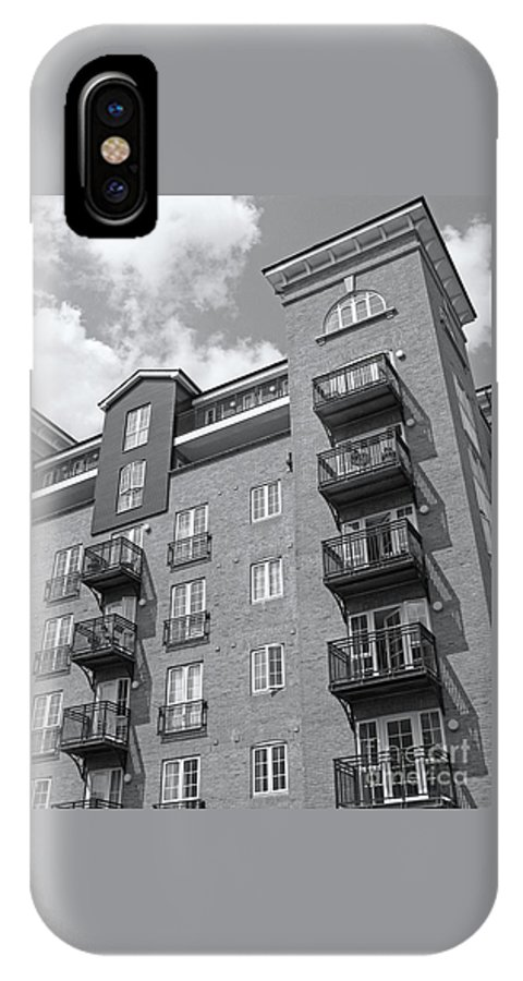 High Rise IPhone X Case featuring the photograph Sunny Black And White Day by Ann Horn