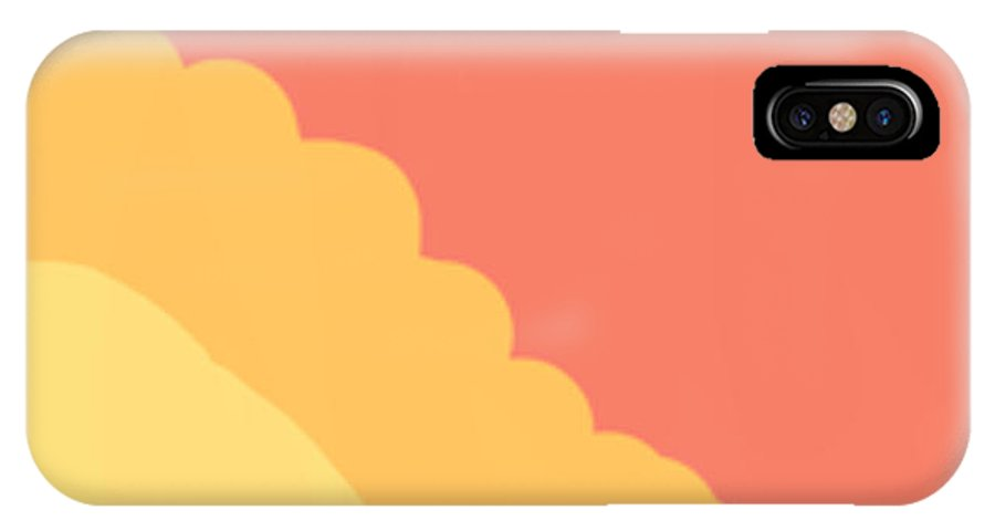 Psychedelic IPhone X Case featuring the digital art Sunny Cave by Naomi Jacobs