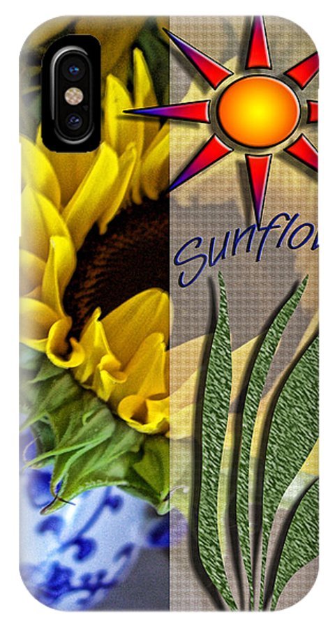 Digital Art IPhone X Case featuring the photograph Sunny Days by Bonnie Bruno