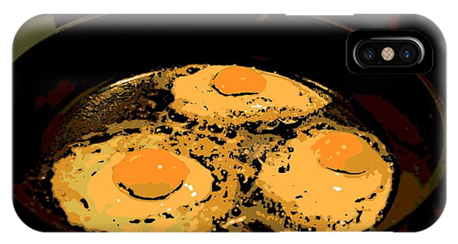Eggs IPhone X Case featuring the photograph Sunny Side Up by George Pedro