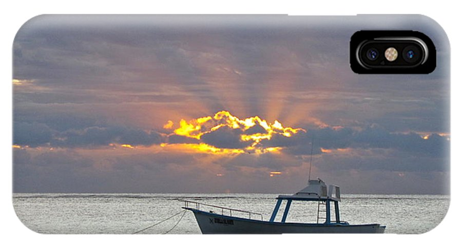 Photography IPhone X Case featuring the photograph Sunrise - Puerto Morelos by Sean Griffin