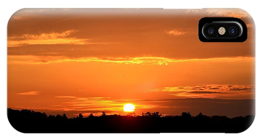 Sunrise IPhone X Case featuring the photograph Sunrise August 1 2012 by Maria Urso