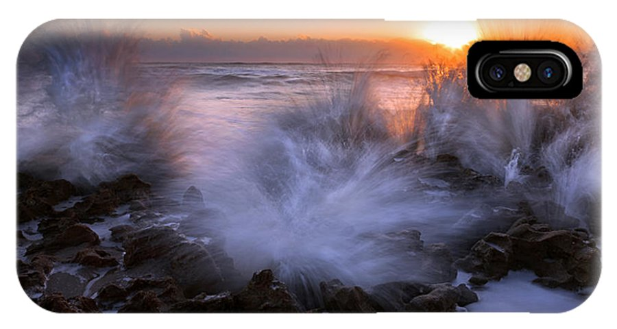 Coral Cove IPhone X Case featuring the photograph Sunrise Explosion by Mike Dawson