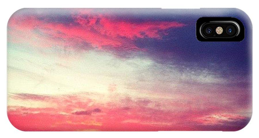 Landscape IPhone X Case featuring the photograph Sunrise by Leslie Schofield