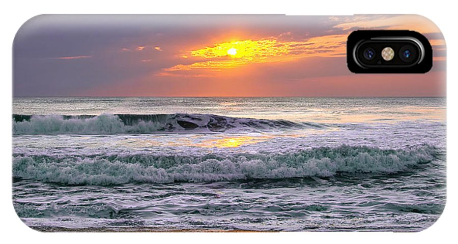 Outer Banks IPhone X Case featuring the photograph Sunrise On The Outer Banks by Mary Almond