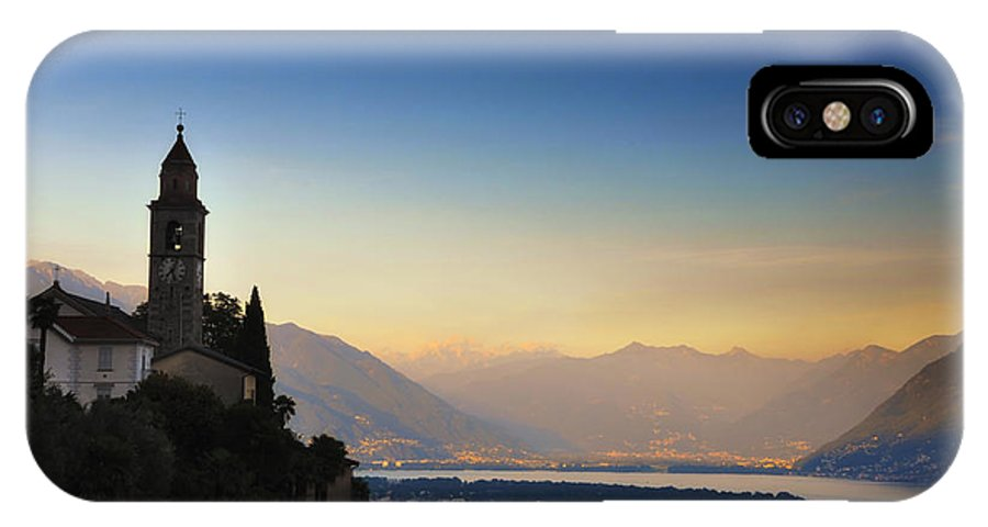 Tower IPhone X Case featuring the photograph Sunrise Over An Alpine Lake by Mats Silvan