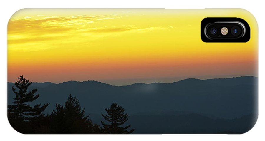 Scenery IPhone X Case featuring the photograph Sunrise Over The Mountains by Kenneth Albin