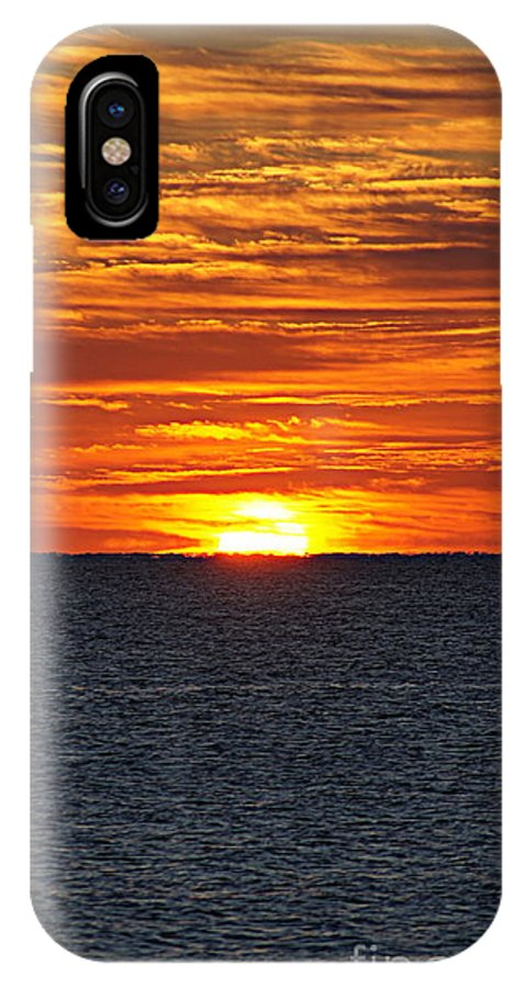 Sunrise IPhone X Case featuring the photograph Sunrise by Paul Wilford