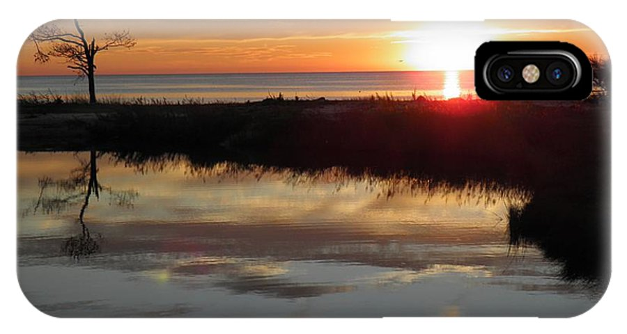 Virginia IPhone X Case featuring the photograph Sunset And Tidal Pool Cape Charles Va by Sven Migot