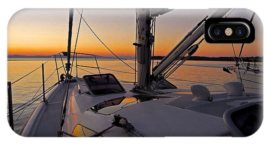 North America IPhone X Case featuring the photograph Sunset At Burlington Harbour ... by Juergen Weiss