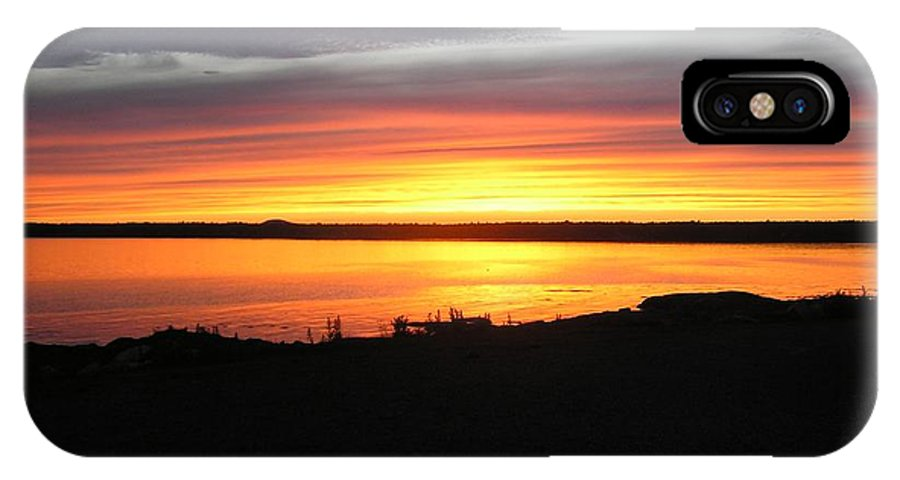 Sunset IPhone X Case featuring the photograph Sunset Bar Harbor Maine by Sven Migot