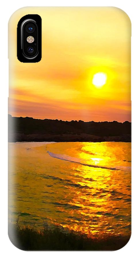 Photographs IPhone X Case featuring the photograph Sunset Glow by John Colley