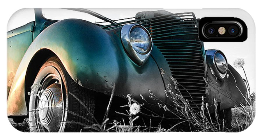 Car IPhone X Case featuring the photograph Sunset Hot Rod by Steve McKinzie