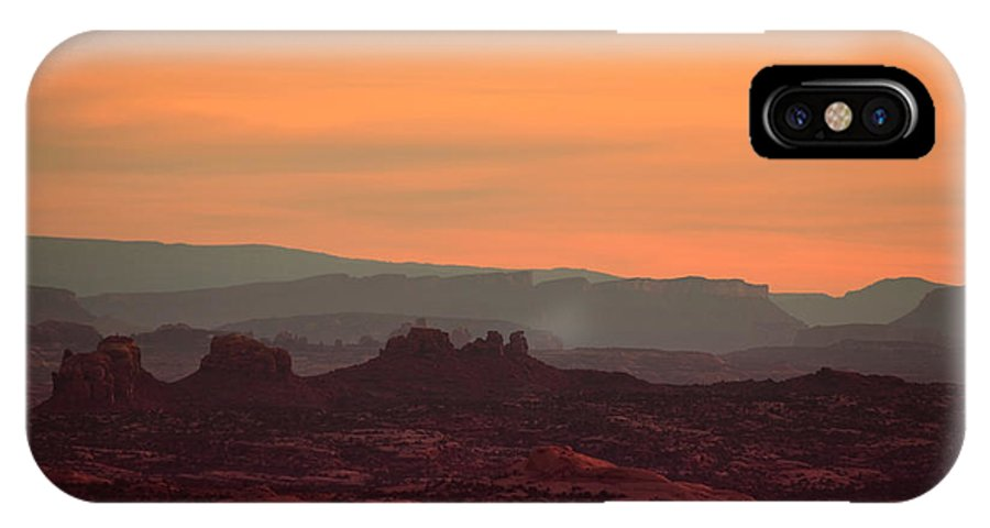 Utah IPhone X Case featuring the photograph Sunset In Moab by Tara Turner