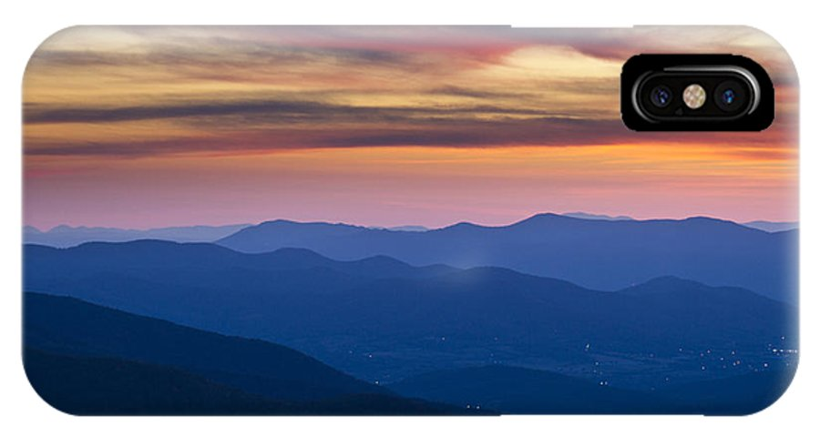 Shenandoah IPhone X Case featuring the photograph Sunset In Shenandoah National Park by Pierre Leclerc Photography