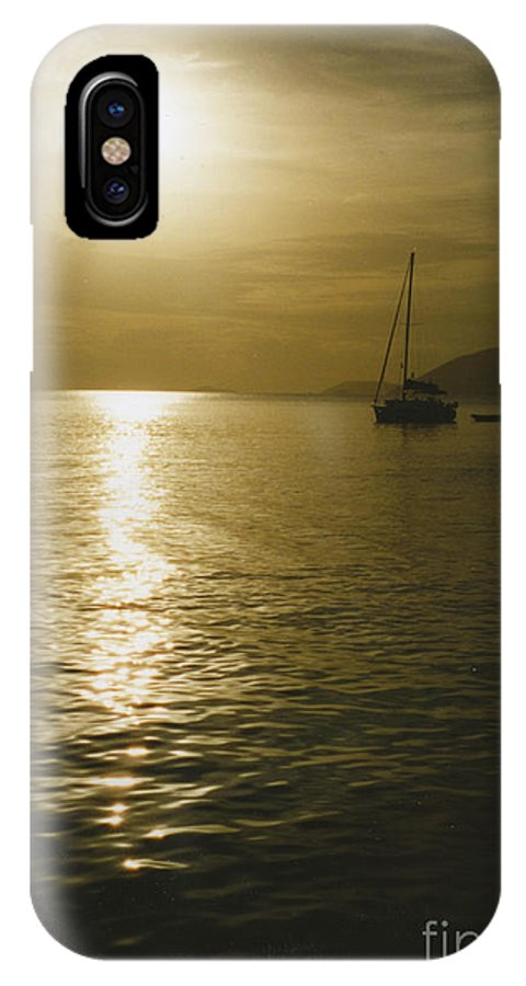 Sunset IPhone X Case featuring the photograph Sunset In The Bvi by William Norton