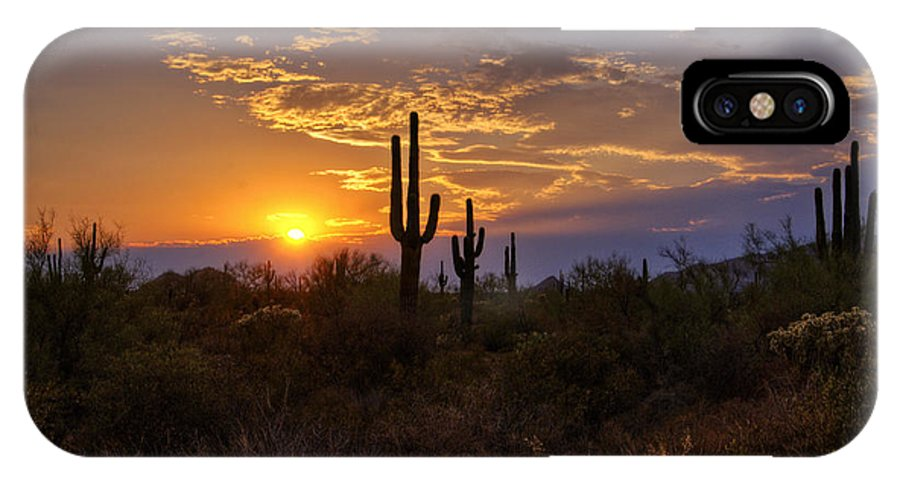 Sunset IPhone X / XS Case featuring the photograph Sunset In The Southwest by Saija Lehtonen