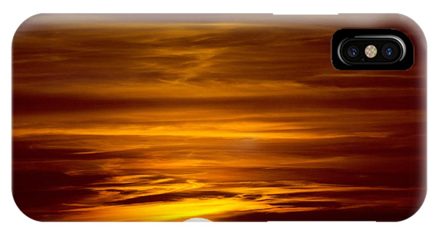 Sun IPhone X Case featuring the photograph Sunset In Tuscany by Mats Silvan