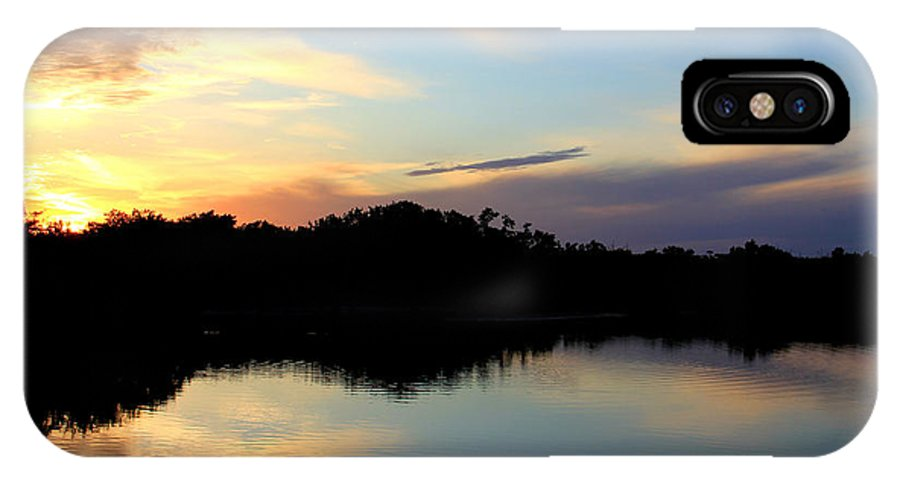 Ocean Photo Prints IPhone X Case featuring the photograph Sunset Lagoon by Brenda Deem