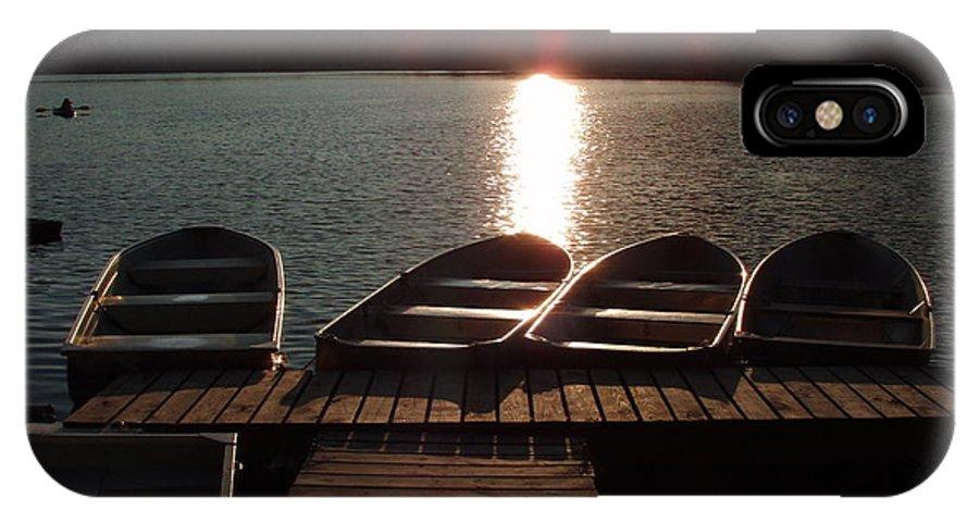 Sabattis IPhone X Case featuring the photograph Sunset Over Bear Pond Sabattis Adventure Camp by Sven Migot