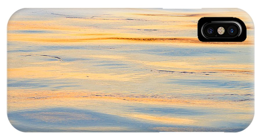 Water IPhone X Case featuring the photograph Sunset Reflected - Cooper River Charleston South Carolina by Bill Swindaman