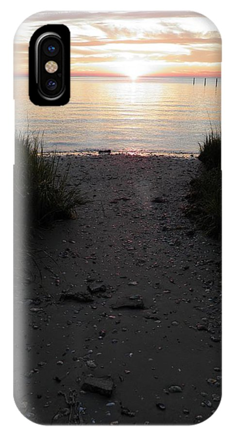 Sunset IPhone X Case featuring the photograph Sunset Through The Grass Cape Charles Virginia by Sven Migot