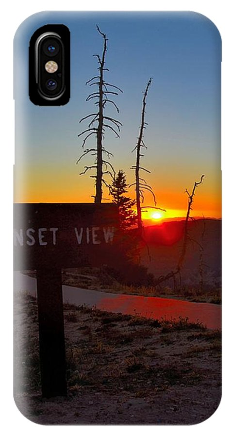 Sunset IPhone X Case featuring the photograph Sunset View by Mark Bowmer