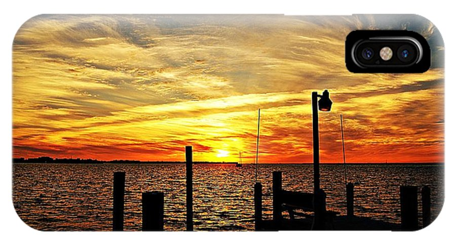 Sunset IPhone X Case featuring the photograph Sunset Xv by Joe Faherty