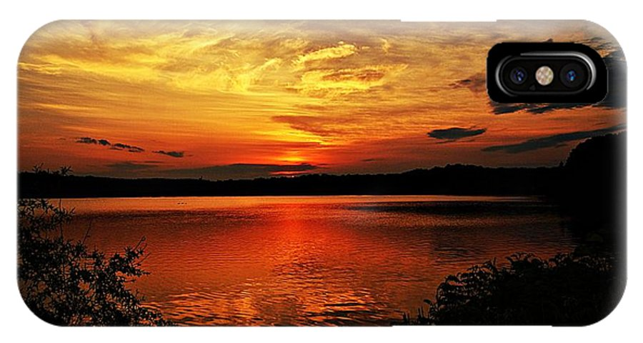 Sunrise IPhone X Case featuring the photograph Sunset Xxv by Joe Faherty