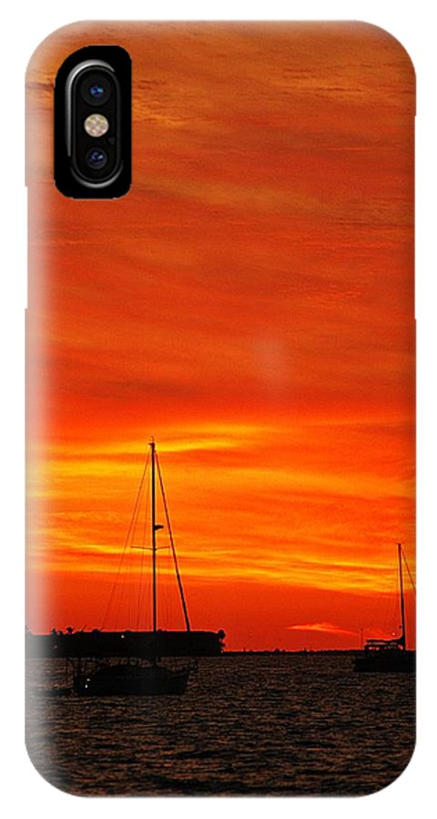 Sunset IPhone X Case featuring the photograph Sunset Xxvii by Joe Faherty