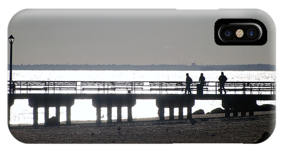 Brooklyn IPhone X Case featuring the photograph Sunsets On Coney Island Pier by Rob Hans