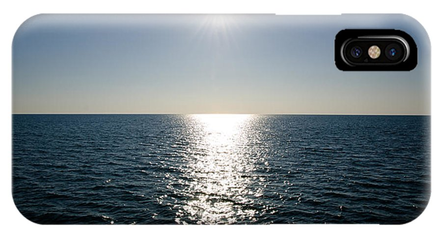 Sun IPhone X Case featuring the photograph Sunshine Over The Mediterranean Sea by Mats Silvan