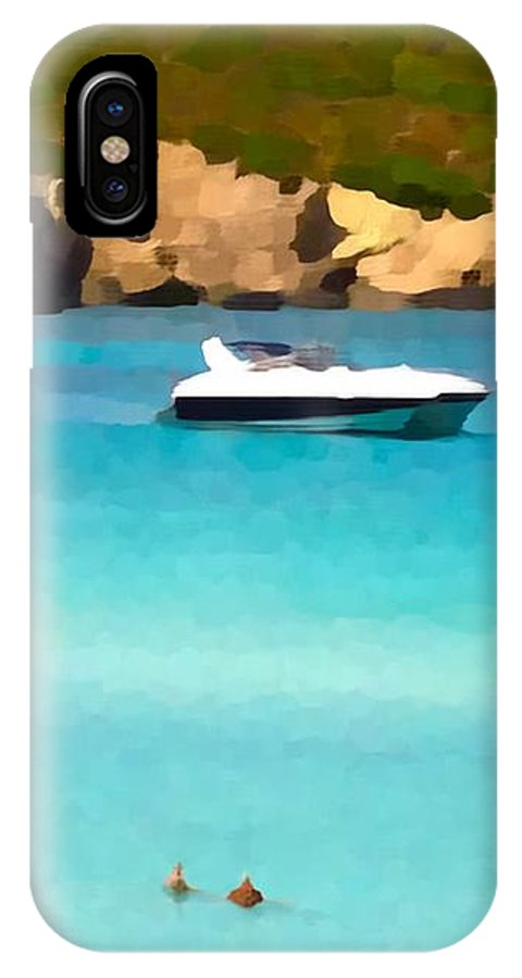 Photographs IPhone X Case featuring the photograph Superhawk And Sea by John Colley