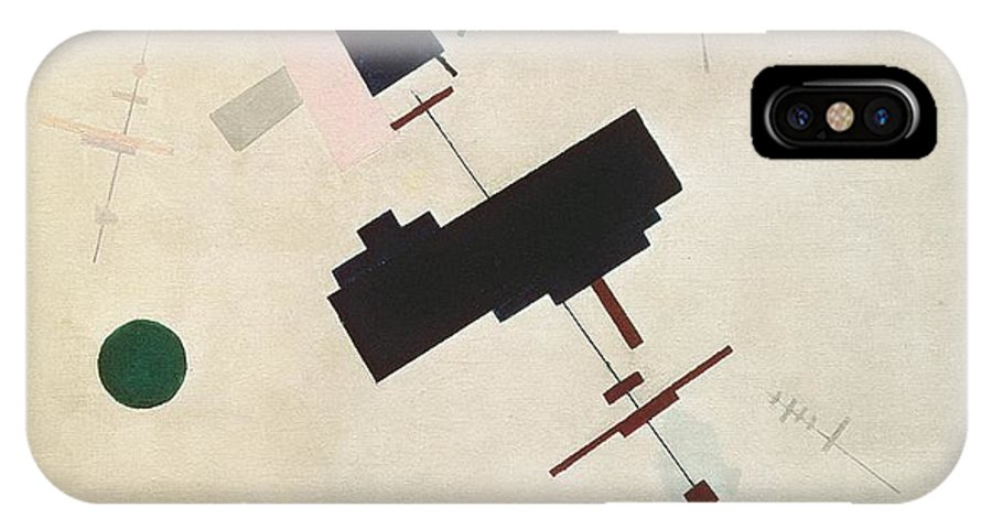 Suprematisme; Suprematism; Abstract; Constructivist; Geometric IPhone X Case featuring the painting Suprematist Composition No 56 by Kazimir Severinovich Malevich