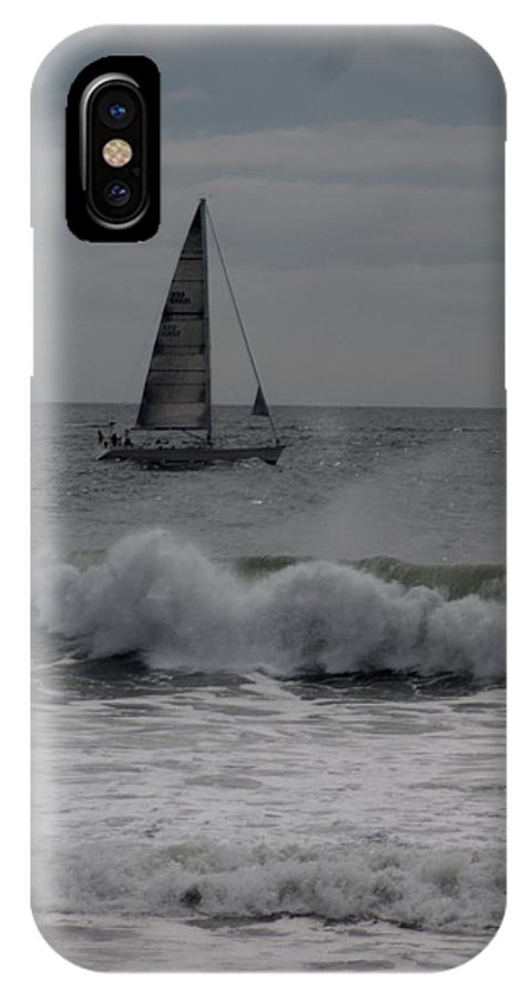 Surf IPhone X / XS Case featuring the photograph Surf And Sail by Barry Doherty
