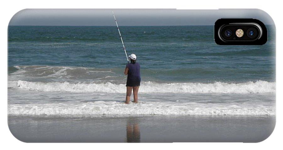 Surf Fishing IPhone X Case featuring the photograph Surf Fishing by Kim Galluzzo Wozniak