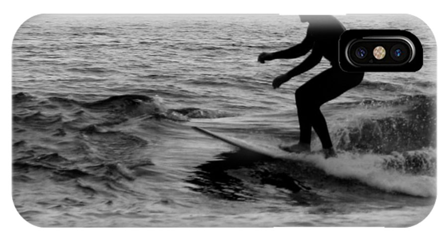 Surfer IPhone X Case featuring the photograph Surfer Going With The Flow by Jan Cipolla